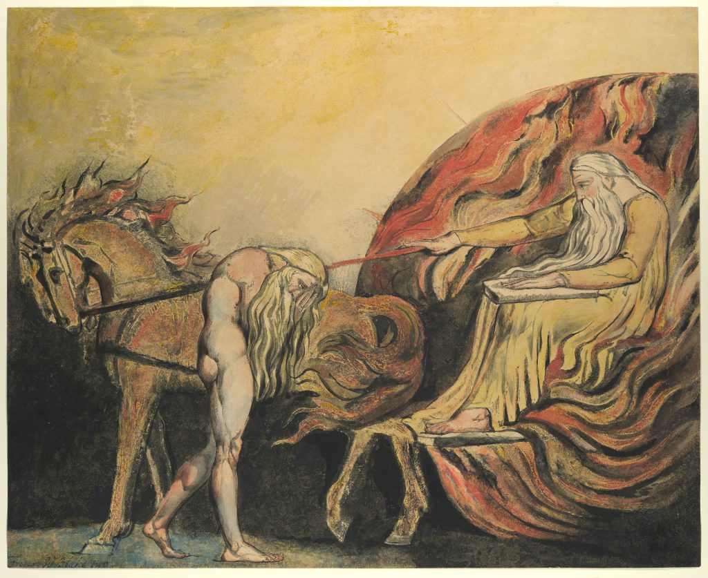 God Judging Adam by William Blake