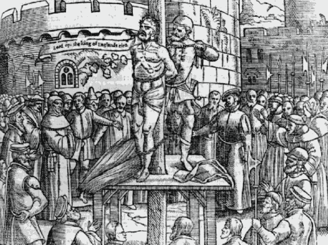The Martyrdom of William Tyndale (from Fox's Book of Martyrs)