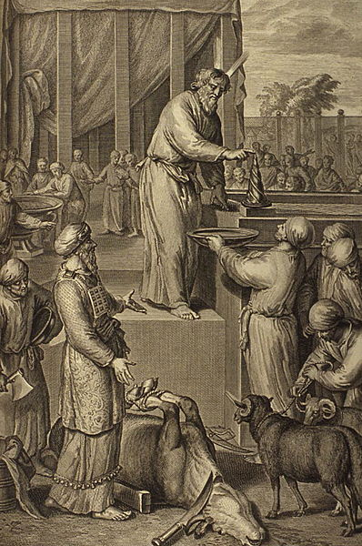 Moses Consecrates Aaron and His Sons and Offers Their Sin Offering
