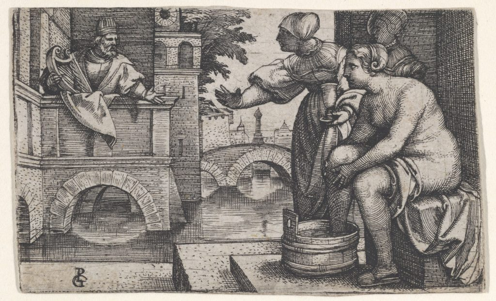 David and Bathsheba by Georg Pencz, 16th Century