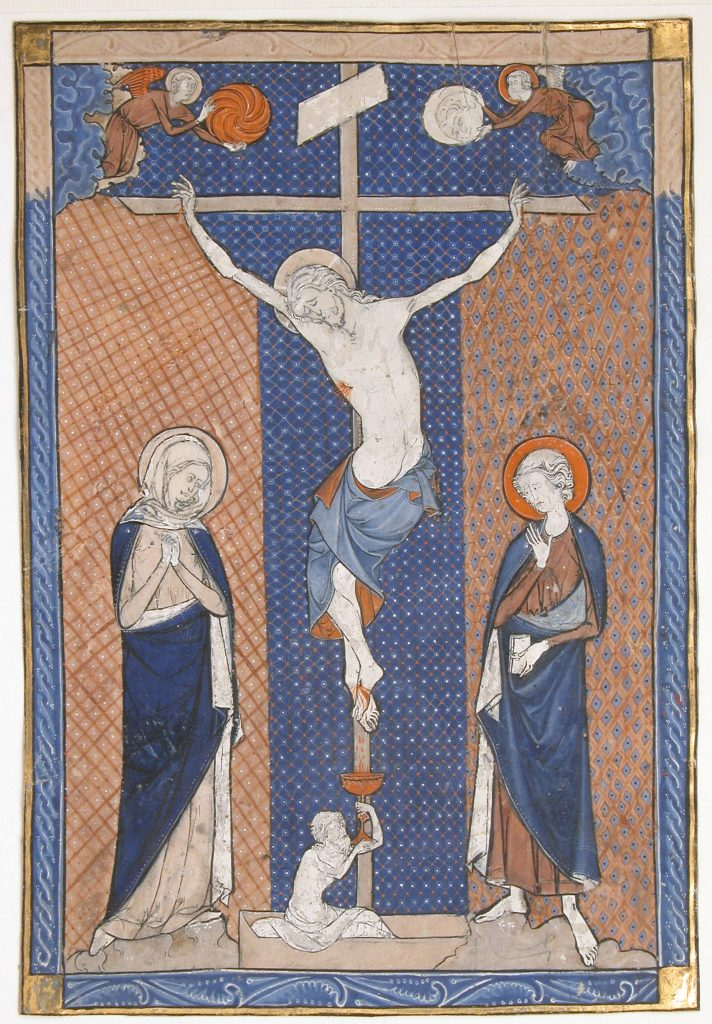 Manuscript Leaf With The Crucifixion From a Missal_ca 1270–80 Image in the Public Domain