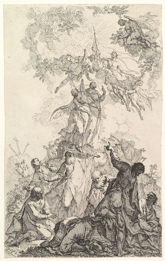 The Ascension of Christ by Johan Ignatz Zimbal, ca. 1750